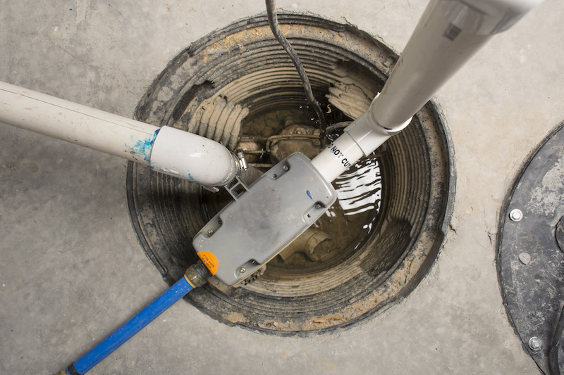 a sump pump in a home