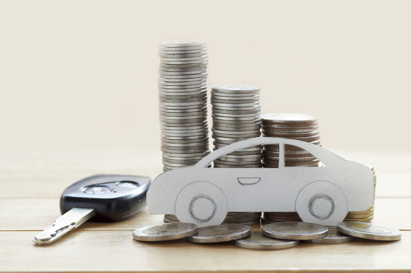 toy car with coins